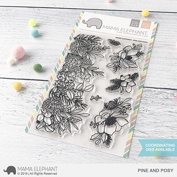 Mama Elephant Clear Stamps PINE AND POSY