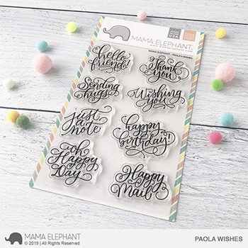 Mama Elephant Clear Stamps PAOLA'S WISHES