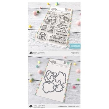 Mama Elephant Clear Stamp and Die MEPT683 Fuzzy Hugs SET