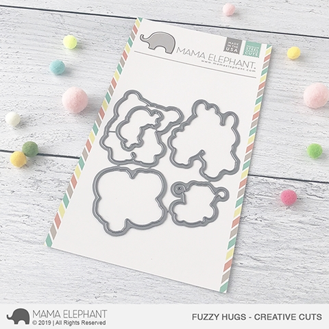 Mama Elephant FUZZY HUGS Creative Cuts Steel Dies Preview Image