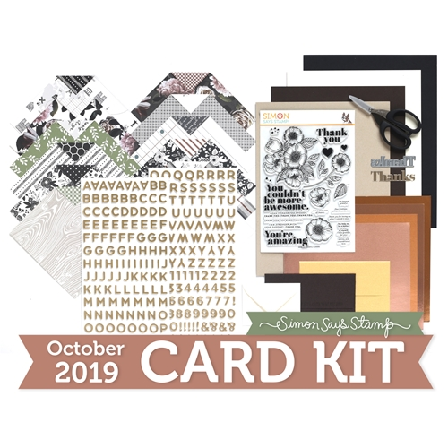 Simon Says Stamp Card Kit of The Month OCTOBER 2019 THANKFUL FLOWERS ck1019 Preview Image
