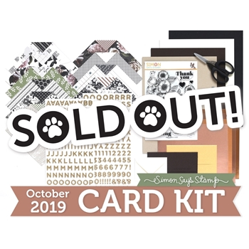 Simon Says Stamp Card Kit of The Month OCTOBER 2019 THANKFUL FLOWERS ck1019