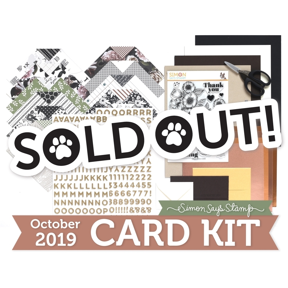 Simon Says Stamp Card Kit of The Month OCTOBER 2019 THANKFUL FLOWERS ck1019 zoom image