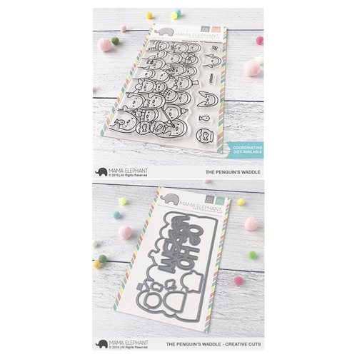 Mama Elephant Clear Stamp and Die MEPT674 Penguin's Waddle SET Preview Image