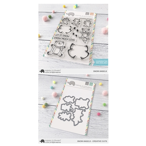 Mama Elephant Clear Stamp and Die MEPT679 Snow Angels SET Preview Image