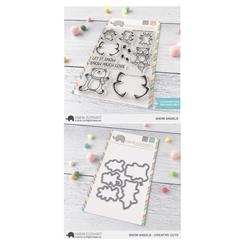 Mama Elephant Clear Stamp and Die MEPT679 Snow Angels SET