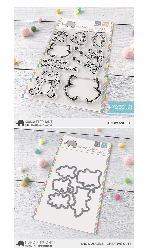 Mama Elephant Clear Stamp and Die MEPT679 Snow Angels SET zoom image