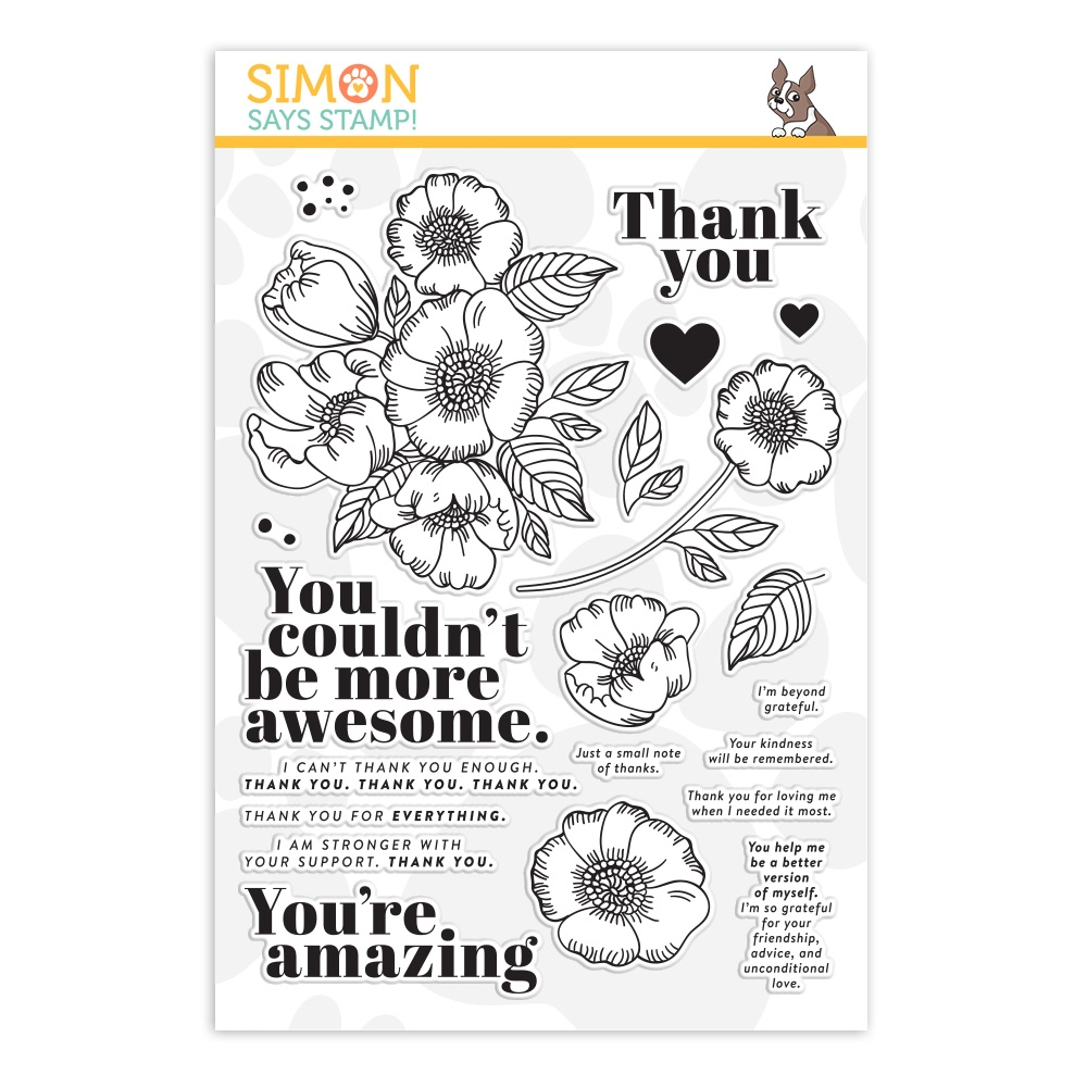 Simon Says Clear Stamps THANKFUL FLOWERS sss201905 zoom image