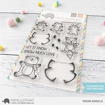 RESERVE Mama Elephant Clear Stamps SNOW ANGELS