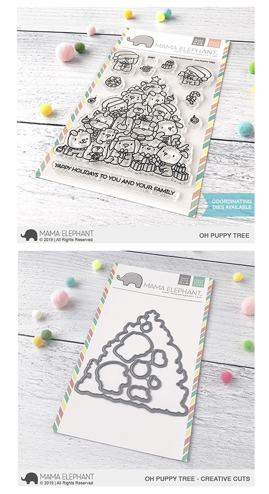 Mama Elephant Clear Stamp and Die MEPT690 Oh Puppy Tree SET zoom image
