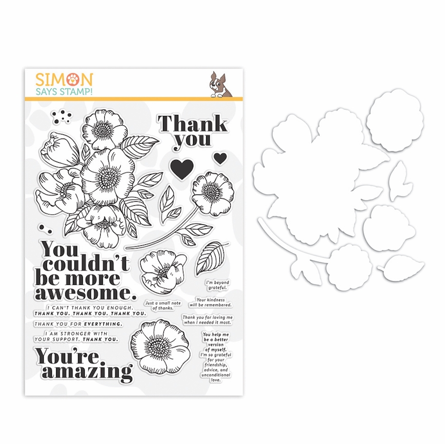 Simon Says Stamps And Dies THANKFUL FLOWERS set357tf zoom image