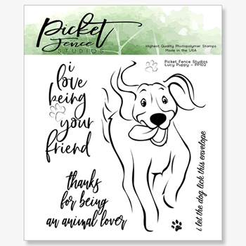 Picket Fence Studios LUCY PUPPY Clear Stamps pp102