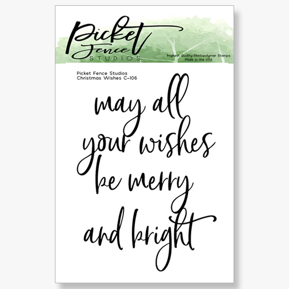 Picket Fence Studios CHRISTMAS WISHES Clear Stamp c106 zoom image