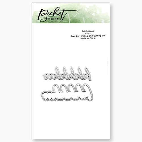 Picket Fence Studios FALALALALAAA Foiled Impressions Die Combo fi117 Preview Image