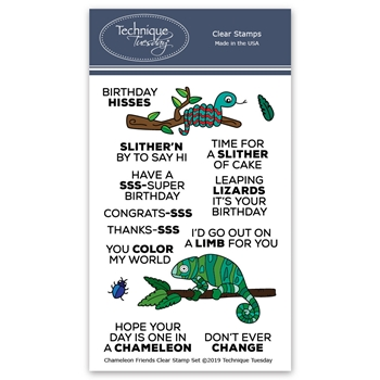 Technique Tuesday CHAMELEON FRIENDS Clear Stamps 02807