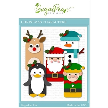 RESERVE SugarPea Designs POCKET TAG CHRISTMAS CHARACTERS SugarCuts Dies spd-00387