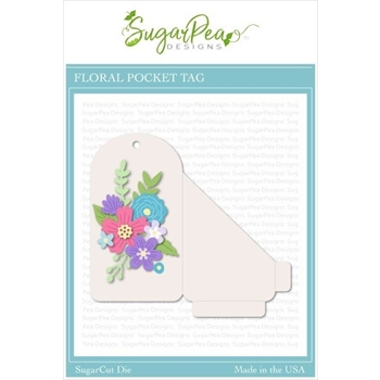 SugarPea Designs FLORAL POCKET TAG SugarCuts Dies spd-00386