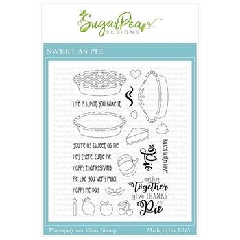 SugarPea Designs SWEET AS PIE Clear Stamp Set spd-00384