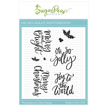 SugarPea Designs OH SO JOLLY SENTIMENTS Clear Stamp Set spd-00379