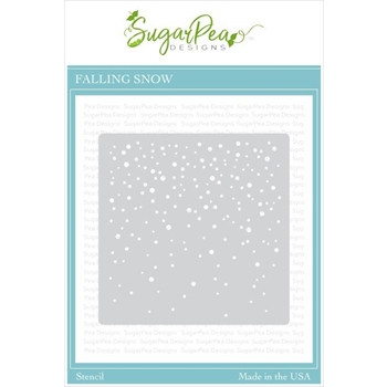 SugarPea Designs FALLING SNOW Stencil spd-00376