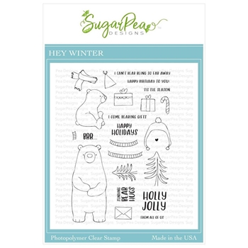 SugarPea Designs HEY WINTER Clear Stamp Set spd-00374