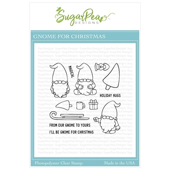 SugarPea Designs GNOME FOR CHRISTMAS Clear Stamp Set spd-00371
