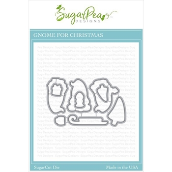 SugarPea Designs GNOME FOR CHRISTMAS SugarCuts Dies spd-00372