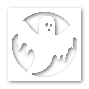 Simon Says Stamp Stencil CREEPY GHOST FRAME ssst121460
