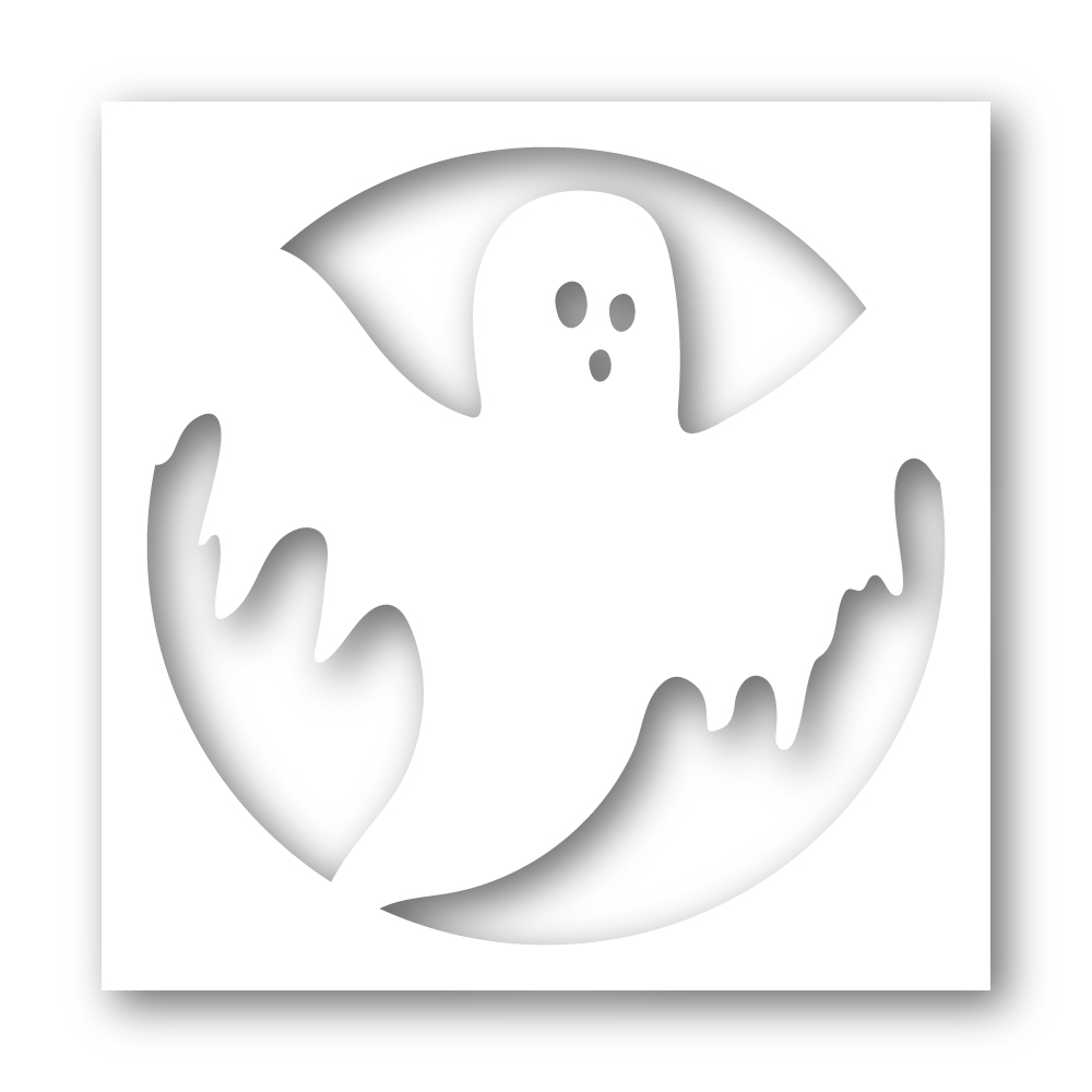 Simon Says Stamp Stencil CREEPY GHOST FRAME ssst121460 * zoom image