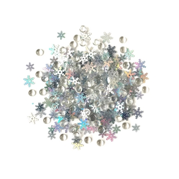 Buttons Galore and More Shimmerz SNOW SQUALL Embellishments RZ111