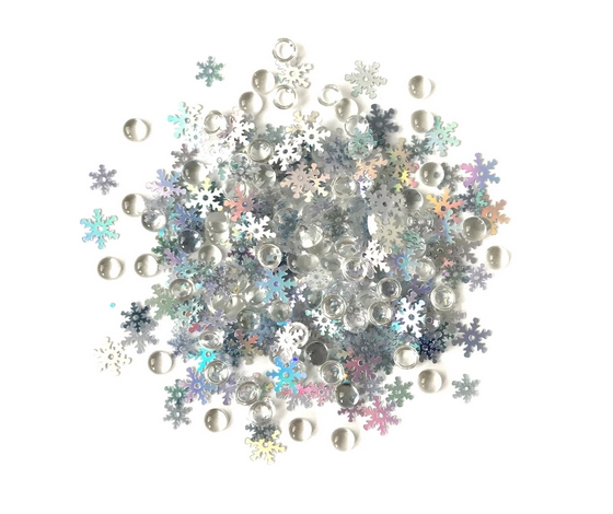 Buttons Galore and More Shimmerz SNOW SQUALL Embellishments RZ111 zoom image