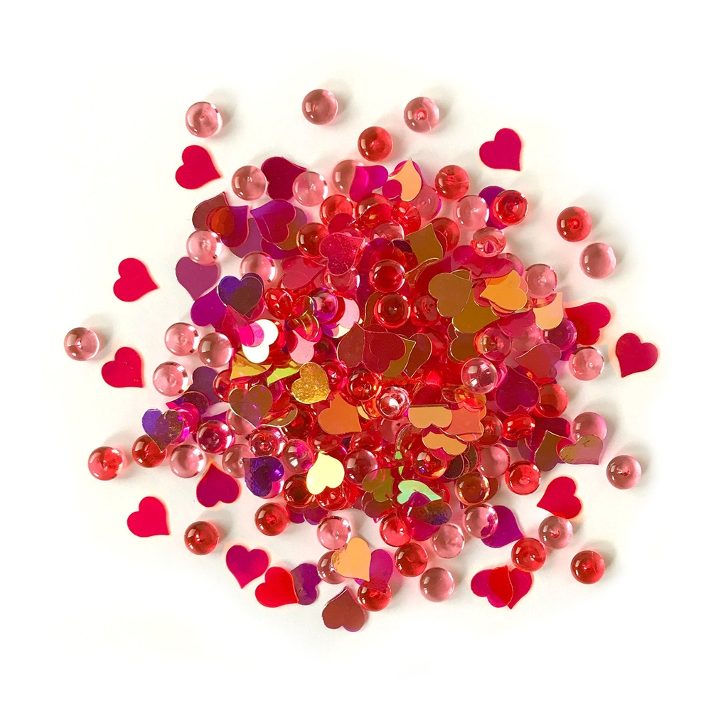 Buttons Galore and More Shimmerz HEARTFELT Embellishments RZ104 zoom image