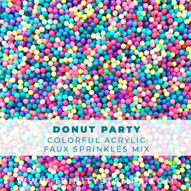 Trinity Stamps DONUT PARTY SPRINKLES MIX Embellishment Box 796823 zoom image