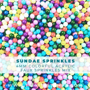Trinity Stamps SUNDAE PARTY SPRINKLES MIX Embellishment Box 611577