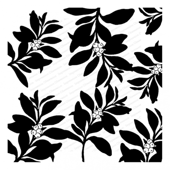 Impression Obsession Cling Stamp BERRY BRANCHES Cover a Card CC358