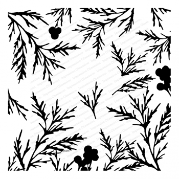 Impression Obsession Cling Stamp PRETTY PINES Cover a Card CC357