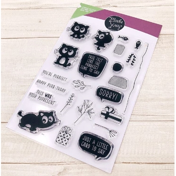 ModaScrap Clear Stamps FUNNY CAT mstc1029