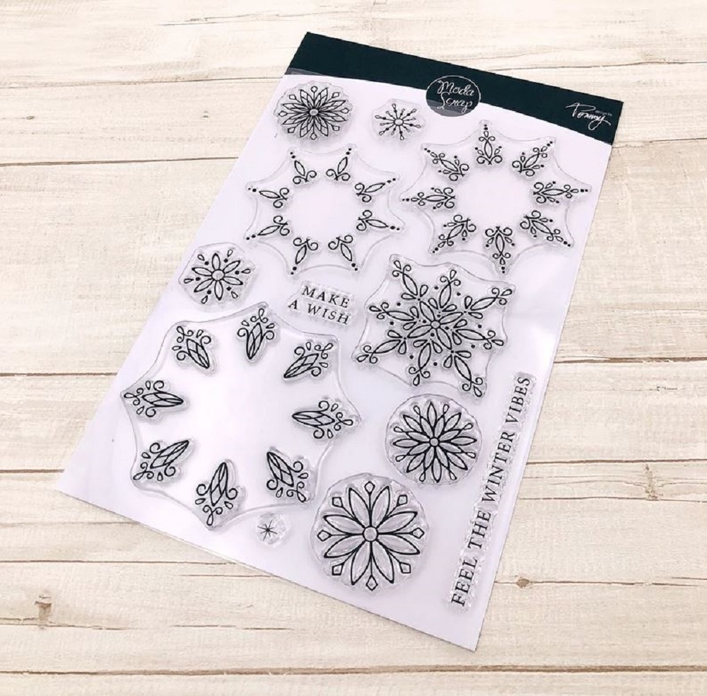 ModaScrap Clear Stamps SNOWFLAKE mstct012 zoom image