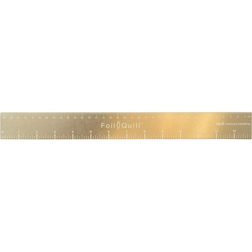We R Memory Keepers 14 INCH GOLD MAGNETIC RULER Foil Quill 661111 Preview Image