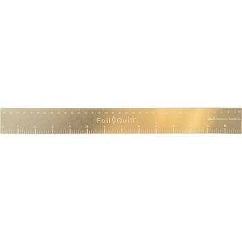 We R Memory Keepers 14 INCH GOLD MAGNETIC RULER Foil Quill 661111