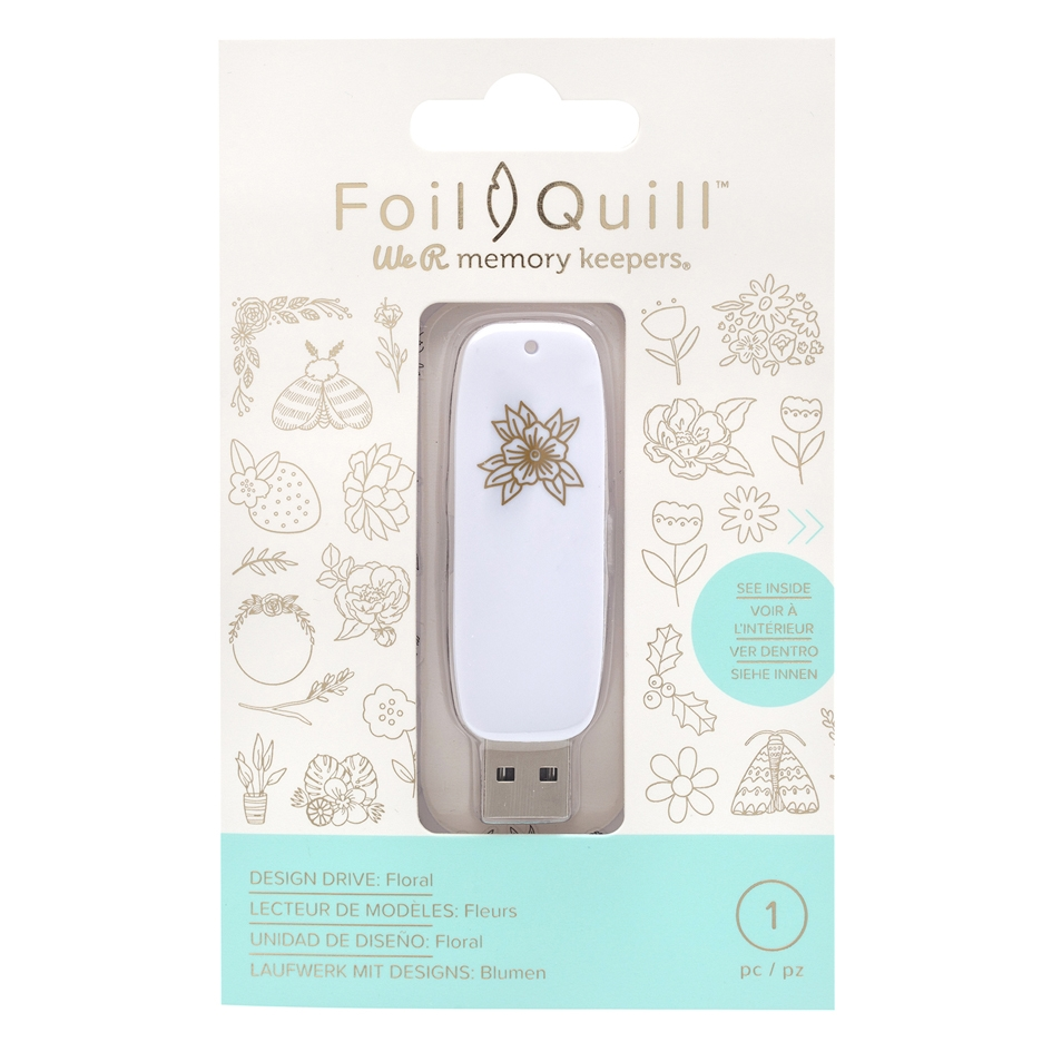 We R Memory Keepers FLORAL Foil Quill Design Drive USB 661207 zoom image