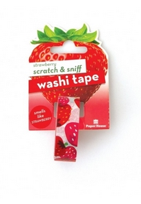 Paper House Scratch and Sniff STRAWBERRY Washi Tape STWA-1000