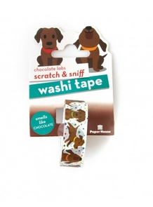 Paper House Scratch and Sniff CHOCOLATE LAB Washi Tape STWA-1003