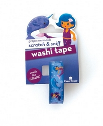 Paper House Scratch and Sniff GRAPE MERMAIDS Washi Tape STWA-1002