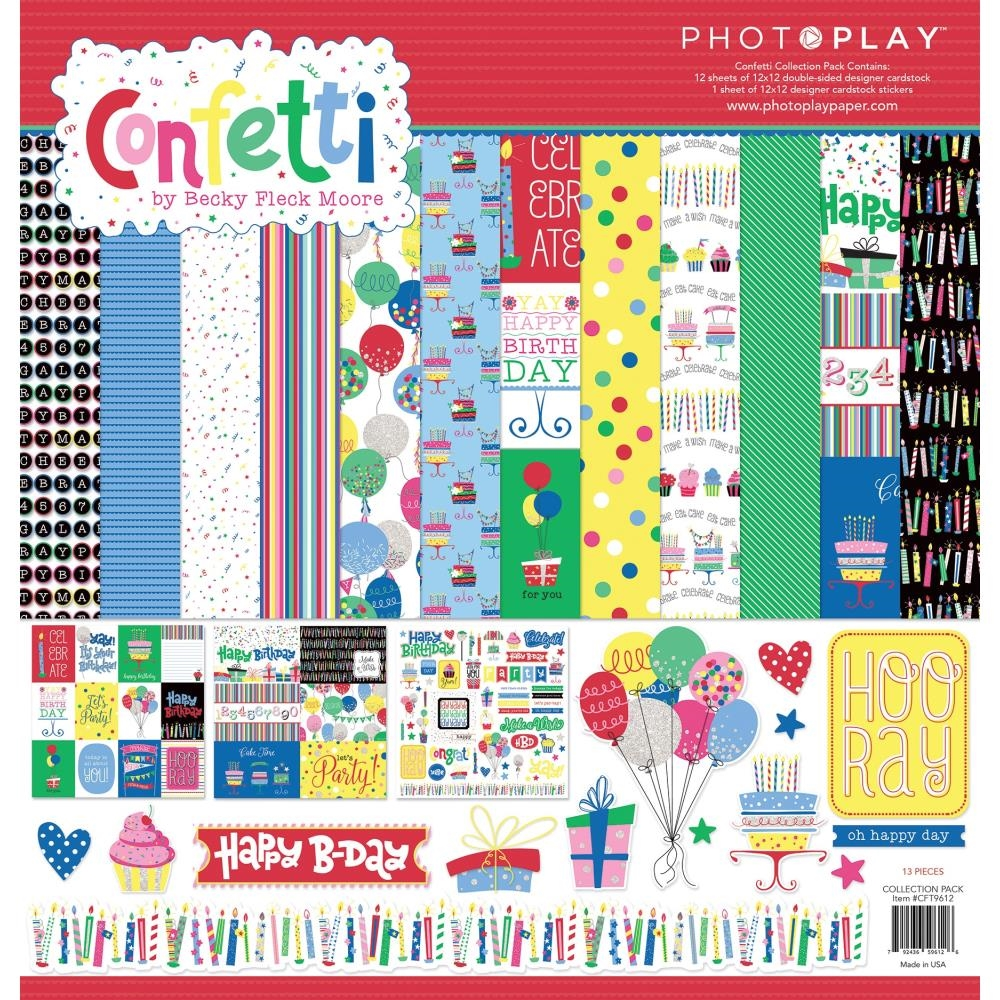 PhotoPlay CONFETTI 12 x 12 Collection Pack cft9612 zoom image