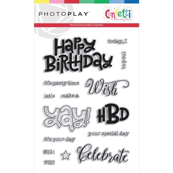 PhotoPlay CONFETTI Clear Stamps cft9614