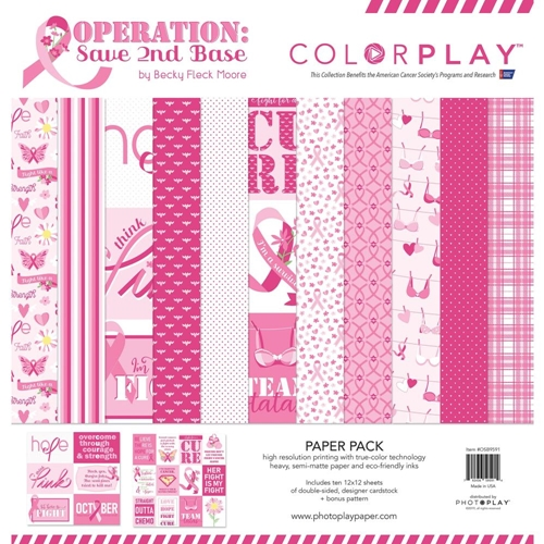 PhotoPlay OPERATION SAVE 2ND BASE 12 x 12 Collection Pack ColorPlay osb9591 Preview Image
