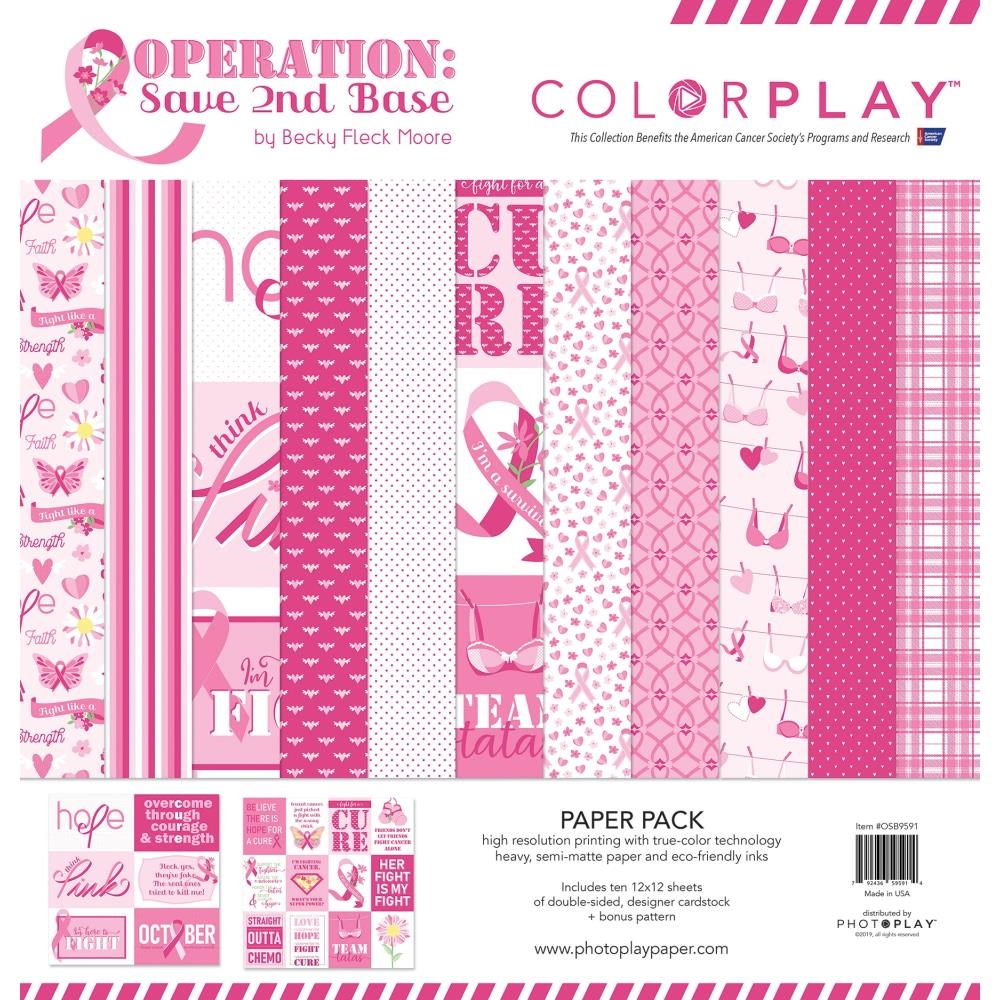 PhotoPlay OPERATION SAVE 2ND BASE 12 x 12 Collection Pack ColorPlay osb9591 zoom image