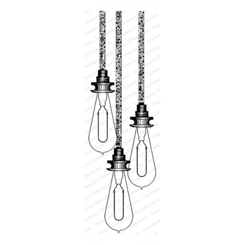 Impression Obsession Cling Stamp HANGING LIGHTS E13825
