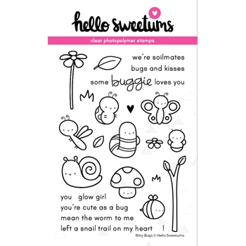 Hello Sweetums BITTY BUGS Clear Stamp Set 002053*